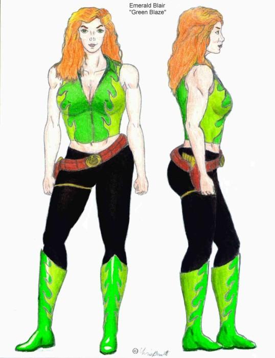 "Emerald Blair, ""Green Blaze"""