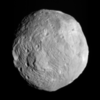 Dawn photograph of Vesta