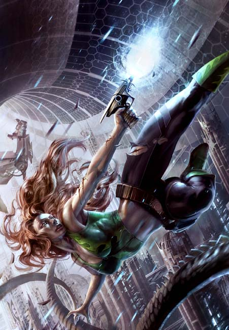 Only Superhuman cover art by Raymond Swanland