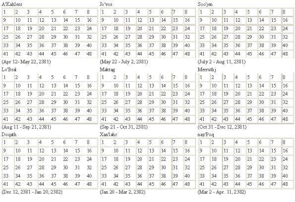 Klingon Calendar