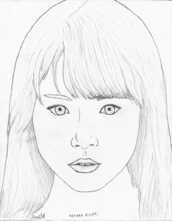 Koyama Hikari (pencil art)